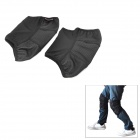 ACACIA 6513 Cycling Protective Plush + Elastic Fabrics Knee Support - Black (2 PCS)