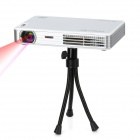MOV298D LED Projector w/ Internal 8GB Memory / TF Slot / HDMI / AV / VGA / TV - White + Silver
