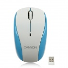 Aoni Canyon Jidian109 Wireless Optical 1000dpi Mouse - White + Blue (2 x AAA)