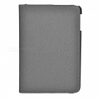 Protective PU Leather Case w/ Swivel Holder / Stylus for Ipad MINI - Grey