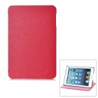 Protective Echtes Leder Smart Cover für iPad Mini - Red + Black