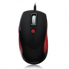 Aoni Xunlei 101 USB Wired Optical 800/1600 / 2400dpi Game Mouse - Red + Black