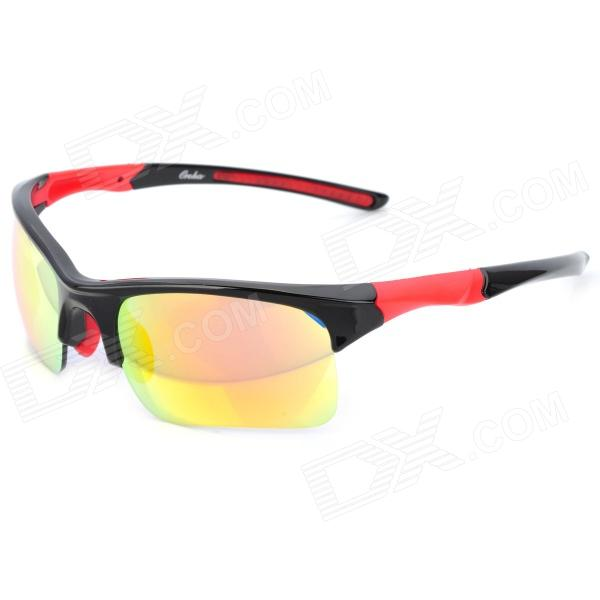 Oreka 006 Red Riding Sports REVO Lens Sunglasses gafas - Negro Marco