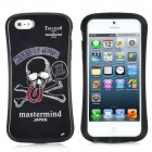 iFace Protective Skull Sketch Pattern Sports Car Style Silicone Case for iPhone 5 - Black