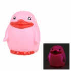2025 Cute Children Bathing Funny LED Flashing Penguin Toy - Pink (2 x LR616)