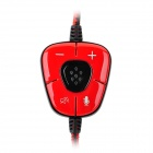 SADES SA-905 USB 2.0 Game Headphones w/ Microphone + Volume Control - Black + Red (280cm-Cable)