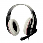SADES SA-701 Headphones w/ Microphone + Volume Control for PC - Black (3.5mm Plug / 200cm-Cable)