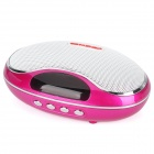 TAICHEN TC-FSP1003 Portable 2-Channel Media Player Speaker w/ TF / FM - Deep Pink + White