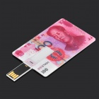 Estilo criativo RMB100 USB 2.0 Flash Drive - Rosa + Branco (16GB)