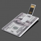 Dólar EUA 100 Estilo USB Flash Drive - Branco + Grey (8GB)