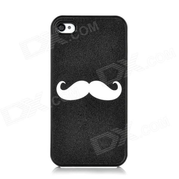 Moustache Pattern Protective Plastic Case for Iphone 4 / 4S - Black other tamehome 2015 1 4 hifi