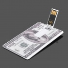 100 US Dollar Style USB Flash Drive - White + Grey (16GB)