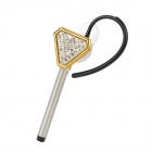 LYEJ-TTA-JINSE Key Style Bluetooth v2.1 Headset w/ Microphone - Golden + Silver