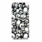 Skull Pattern Protective Plastic Case w/ Screen Protector for Iphone 5 - Black + White