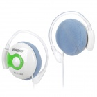 Voiceao VA-1620 Ear Hook Stereo Headset - Green + White (3.5mm Plug / 1.2m)