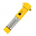 VJ-119 Multi-Function Car Emergency Safety Break Hammer - Yellow + Silver