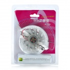 QQV6 Aluminum Alloy 11-Blade Cooling Fan for Graphics Card - Silver (12cm)