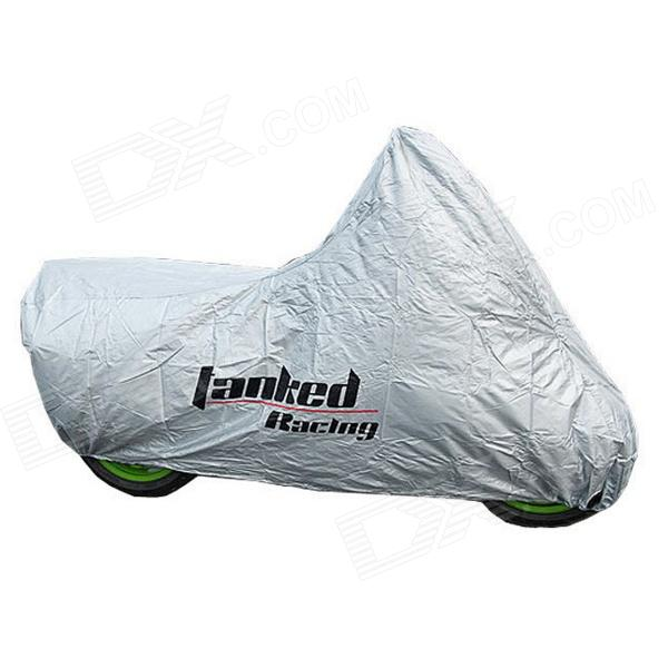 TANKED Motorcycle All-Weather Cover - Silver (Size L)
