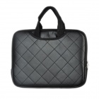 "PU Leather Grid Style Hand Bag for Ipad / Ipad 2 / the New Ipad / 10"" Laptop - Black"