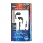 AWEi Q9i 3.5mm Plug In-Ear Earphone w/ Microphone for Iphone 5 / Ipad - Black (115cm)