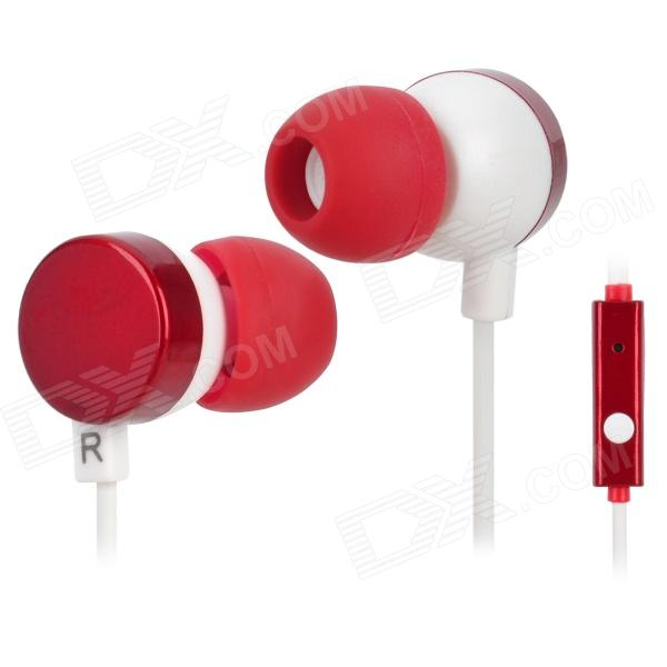 Kanen IP-608 Stylish In-Ear Earphones w/ Microphone / Clip - Red + White (3.5mm Plug / 120cm) кольца кюз дельта 312777 d