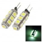 PointPurple G4-F113C W G4 2.34W 299lm 13-SMD 5050 LED White Light Car Decoration Lamp (2 PCS / 12V)