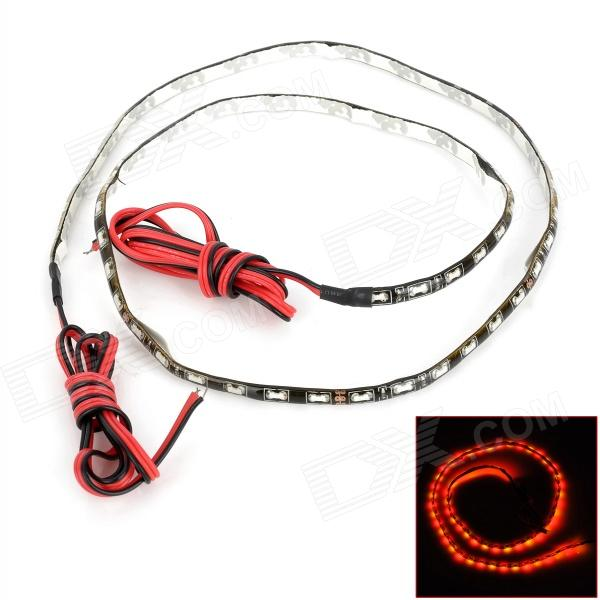 9W 480lm 60-SMD 1206 LED Red / Yellow Light Car Flexible Decoration Strip (DC 12V / 60cm)