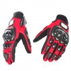 PRO-BIKER MCS-01A Motorcycle Racing Full-Finger Protective Gloves - Red + Black (Size M / Pair)