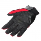 PRO-BIKER MCS-01A Motorcycle Racing Full-Finger Protective Gloves - Red + Black (Size L / Pair)