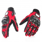 PRO-BIKER Motorcycle Racing Full-Finger Protective Gloves - Red + Black (Size XL / Pair)
