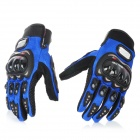 PRO-BIKER Motorcycle Racing Full-Finger Protective Gloves - Blue + Black (Size M / Pair)