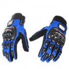 PRO-BIKER Motorcycle Racing Full-Finger Protective Gloves - Blue + Black (Size L / Pair)