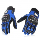 PRO-BIKER Motorcycle Racing Full-Finger Protective Gloves - Blue + Black (Size XL / Pair)