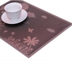 ShiGuangWu Beautiful Flower Butterfly Pattern PVC Table Mat - Purple