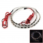 9W 144lm 60-LED White / Yellow Light Car Flexible Dekoration Strip (DC 12V / 60cm)