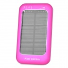Solar Powered Rechargeable 3500mAh Portable Mobile Power Charger w/ Adapters - Deep Pink