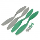 12 x 3.8 Carbon Fiber CW / CCW Propellers for Multi-axis R/C Airplane - Grey + Green (2 Pairs)