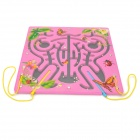 Butterfly Shaped Coordination Ability Training Magnetic Maze Toy - Deep Pink