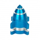 Rocket Style Aluminum Alloy Bike Bicycle Tyre Valve Cap - Blue