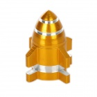 Rocket Style Aluminum Alloy Bike Bicycle Tyre Valve Cap - Golden
