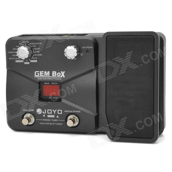 "JOYO GEM Box 1.0"" LCD Aluminum Alloy Guitar Multi-Effects Processor - Black"