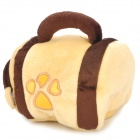 4789 Nette Plüsch Doghouse Bag Dog Toy - Yellow + Puce