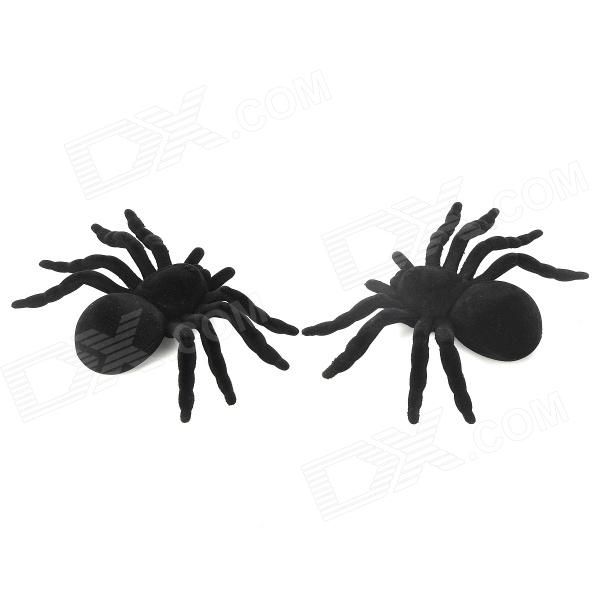0130 Novelty Lint Verisimilitude Spiders Toy - Black (2 PCS)