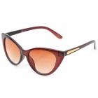 Fashion Cat Eye AC Lens UV400 Protection Sunglasses for Women - Brown