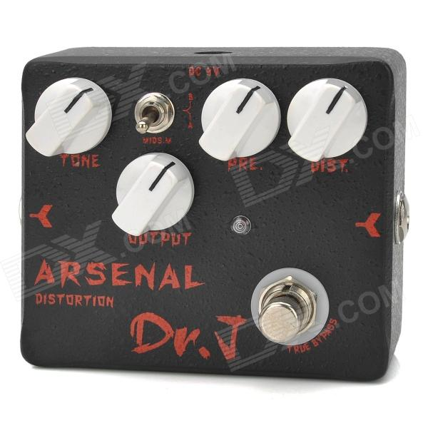 JOYO D51 Aluminum Alloy Arsenal Distortion Pedal Effect for Guitar / Bass - Black + Red
