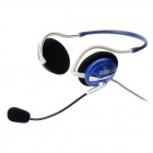 Dicsong CD-540MV Neckband Headphones w/ Microphone - Blue + White (3.5mm Plug / 210cm)