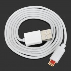 Lightning 8-Pin Male to USB Male Data Charging Cable for iPhone 5 - White (100cm)