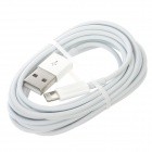 8-Pin Lightning Male to USB Male Data Charging Cable for iPhone 5 / iPod Touch 5 - White (200cm)