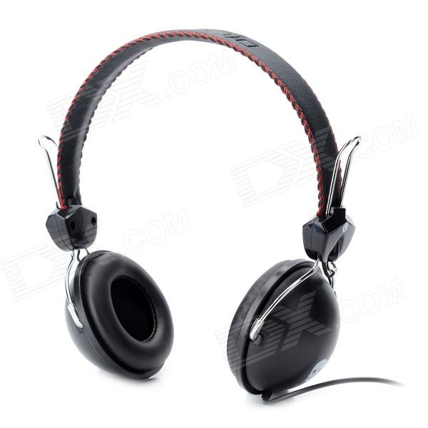 Dicsong CD-811 Stylish Headphones - Black + Silver (3.5mm Plug / 198cm) 1more super bass headphones black and red