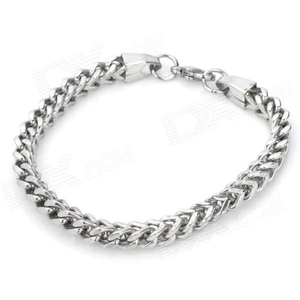 Gothic Style Titanium Stainless Steel Bracelet - Silver fashion 316l stainless steel bracelet for man h023